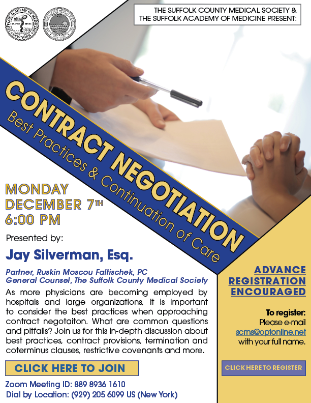 Contract Negotiation Webinar Flyer